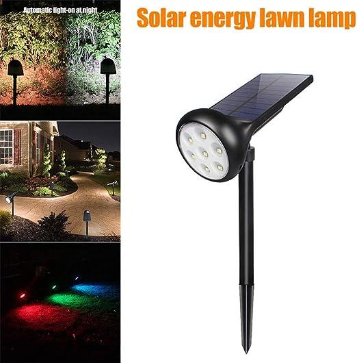 Lámparas Solares Farola Jardín Solar Focos LED Exterior 7 color LED Luces Impermeable IP55 para Jardín Patio Pathway Terraza Calzada Cesped Paisaje: Amazon.es: Iluminación