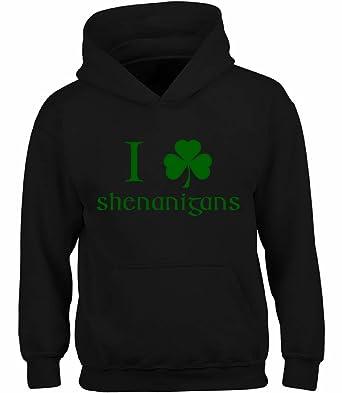 410ef7416 Vizor I Clover Shenanigans Hooded Sweatshirt Funny ST. Patrick's Day Hoodies  Black S