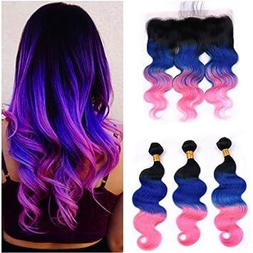 Amazon Com Tony Beauty Hair Virgin Brazilian Human Hair 1b Blue