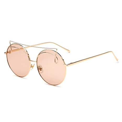 WYXIN Occhiali da sole per donna, occhiali stile europeo e americano Occhiali da sole con montatura in metallo UV400, Multicolor Opcional, e
