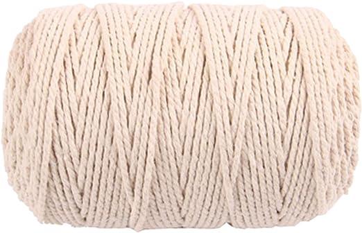 100 mx 3 mm cuerda de algodón para tejer cuerda de bricolaje ...