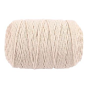 100 mx 3 mm cuerda de algodón para tejer cuerda de bricolaje Bohemia  macrame decoración de 35b89c06c58
