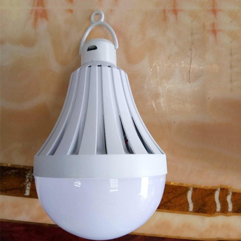 LEDMOMO Bombilla de luz USB que acampa Luz port/átil Bombilla LED de luz nocturna para el hogar Almac/én de emergencia al aire libre que camina 9W 6500K