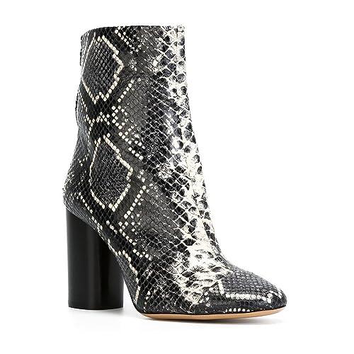34b4e2ddc5872 CCBubble Block Heels Snakeskin Shoes Women Ankle Boots Shoes Women