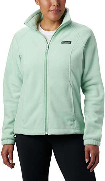 Soft Fleece with Classic Fit Columbia Womens Benton Springs Full Zip Jacket Olive Green X-Large