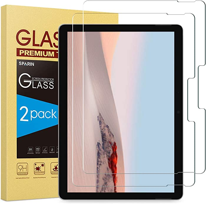 SPARIN [2-Pack Surface Go 2 / Surface Go Screen Protector, [Tempered Glass] [High Responsive] [Scratch Resistant] Screen Protector for Microsoft Surface Go (10.5 Inch, 2020/10 Inch, 2018)