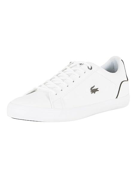 Lacoste Hombre Lerond 317 4 CAM Zapatillas de cuero, Blanco, 40.5: Amazon.es: Ropa y accesorios