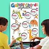 """Guitar Chords Alphabet Kids Learning Poster with Animals 19""""x27"""" • Best Music Stuff"""