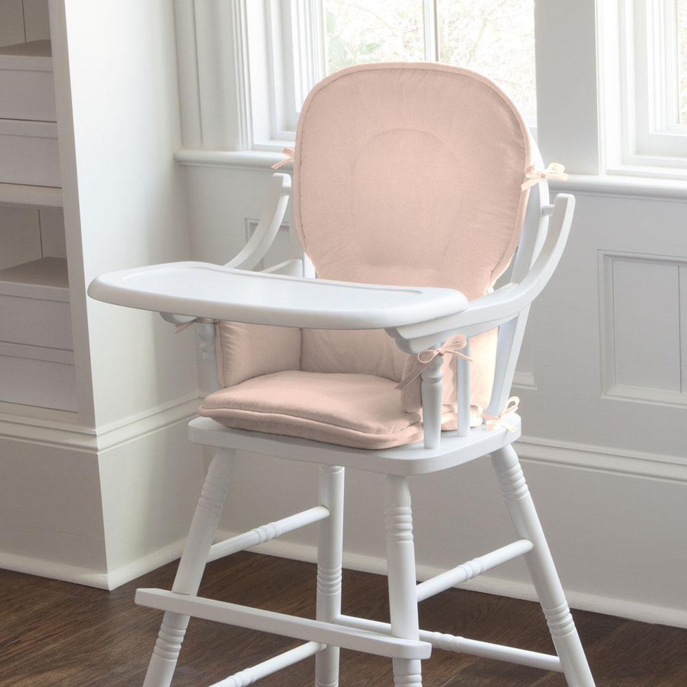Carousel Designs Solid Peach High Chair Pad