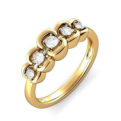 18K Yellow Gold 0.25 cttw White-Diamond (IJ 3pihxMkfJ