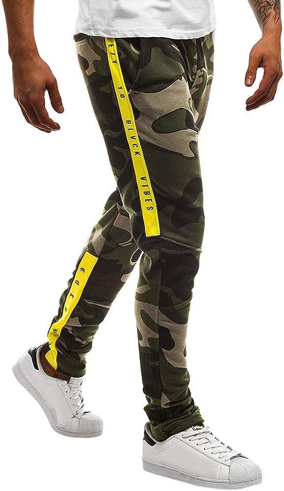 Hunzed Men【Camouflage Training Pants】 Mens Cotton Joggers Sweatpants for Gym Athletic Training Pants Workout