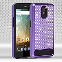 Asmyna Cell Phone Case for ZTE Avid Trio - Purple/Black