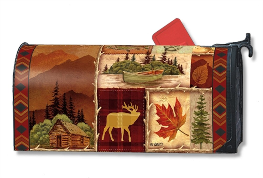 MailWraps Cabin Fever Mailbox Cover #01265