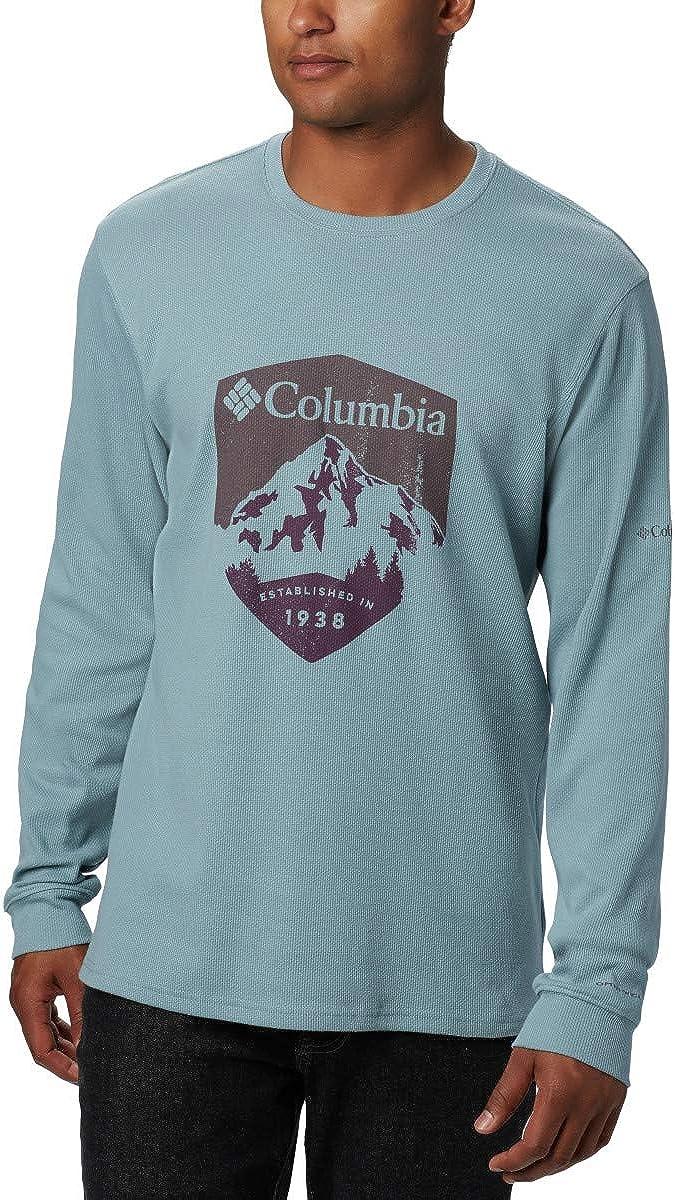 Columbia Mens Ketring Long Sleeve Graphic Crew II Moisture-Wicking