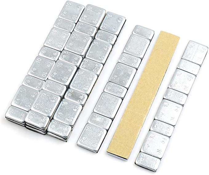 F FIERCE CYCLE 2.1oz Adhesive Back Wheel Balance Weights Strips for Motorcycle 134 x 18mm 10pcs