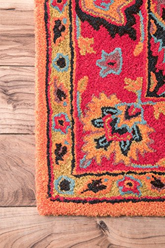 """nuLOOM Montesque Hand Tufted Wool Runner Rug, 2' 6"""" x 10', Orange - Style: Traditional Color : Orange Actual Size: 2' 6"""" x 10' - runner-rugs, entryway-furniture-decor, entryway-laundry-room - 617xhvbpWIL -"""