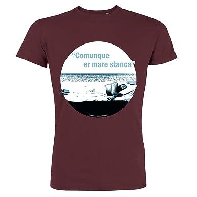 Pushertees T Shirt Uomo Burgundy Osh 25 Le Piu Belle Frasi