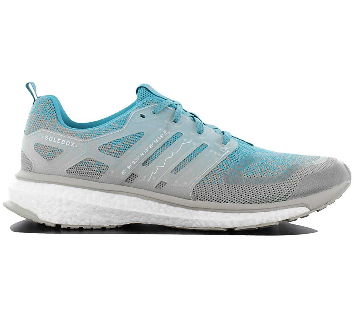 save off 46894 55525 Amazon.com  adidas - Consortium Energy Boost Mid SE X Packer Shoes Solebox  - CP9762 - Color Turquoise-Grey - Size 9.5  Fashion Sneakers