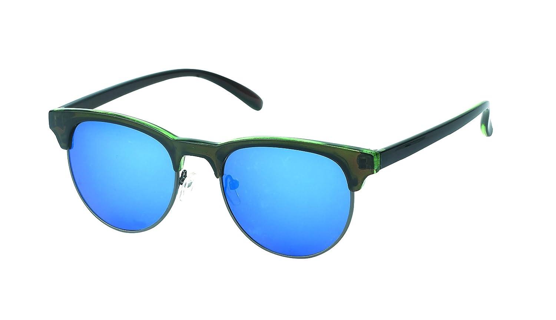 Des lunettes de soleil Chic-net rétro rondes de style John Lennon bleu 400UV cadre épais top cat oeil bbR0JoM