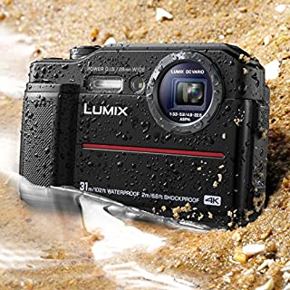 "Panasonic DC-TS7K Lumix TS7 Waterproof Tough Camera, 20.4 Megapixels, 4.6X Zoom Lens, USA, with 3"" LCD, Black"