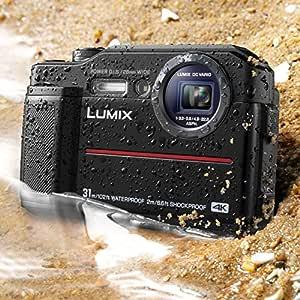 "Panasonic DC-TS7K Lumix TS7 Waterproof Tough Camera, 20.4 Megapixels, 4.6X Zoom Lens, USA, with 3"" LCD, Black"