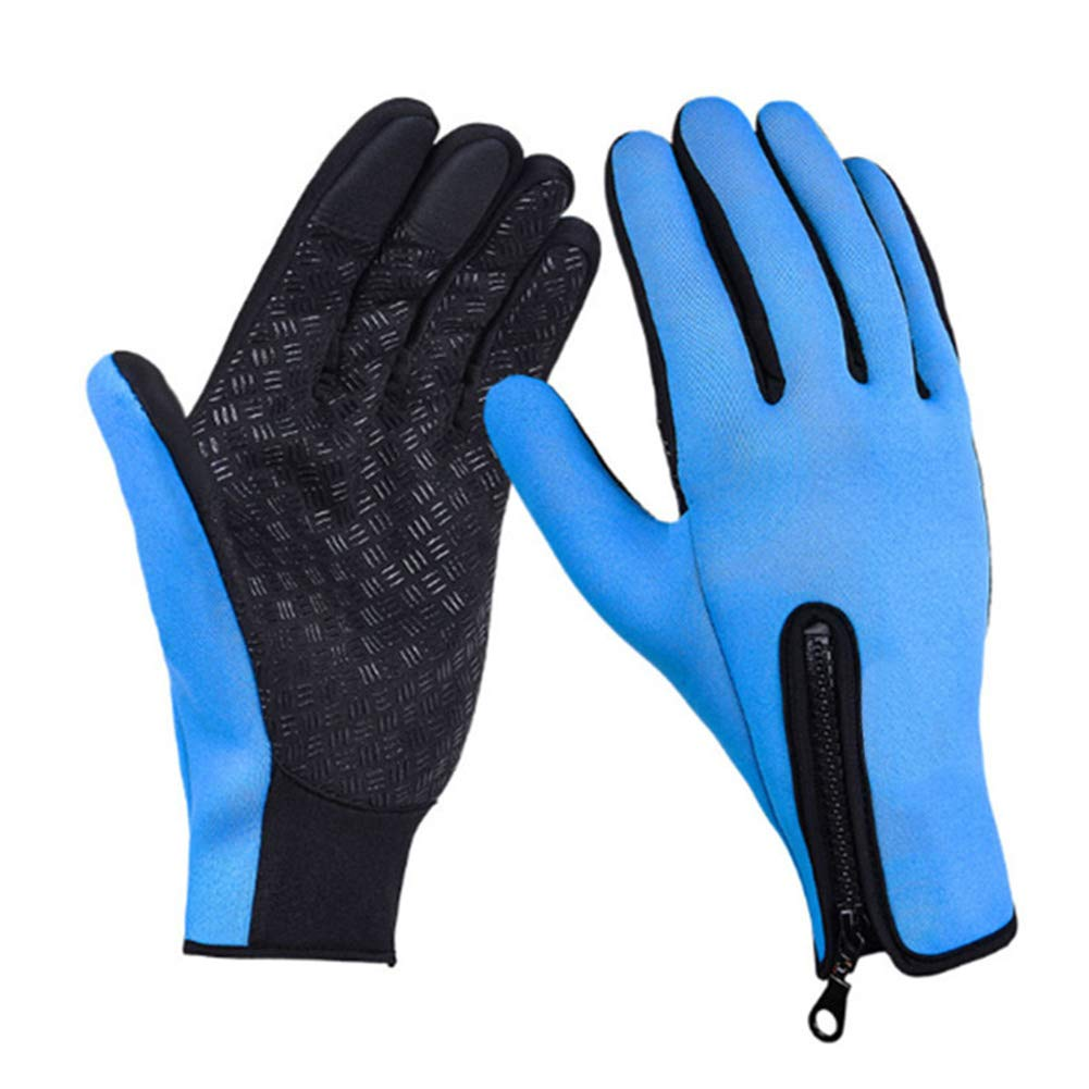Gloves Male Autumn Winter Riding Driving Touch Screen Leather Waterproof Windproof Non-Slip Outdoor Keep Warm Cold Protection Velvet Cotton GAOFENG