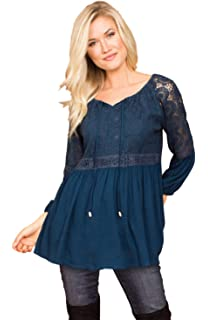 Simply Noelle Peplum Swing Pullover Top