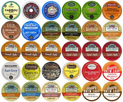 30-count Top Brand Coffee, Tea, Cider, Hot Cocoa a…