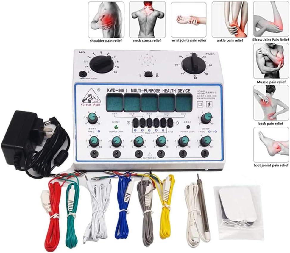 La acupuntura estimulador eléctrico de la máquina, kit de parches Massager del cuidado digital Electro estimulador de acupuntura de la terapia
