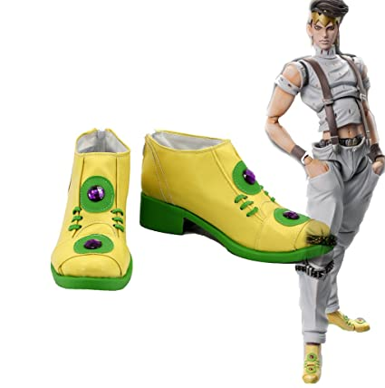 JOJO'S BIZARRE ADVENTURE 4 Rohan Kishibe Boots Cosplay Shoes Boots Custom Made