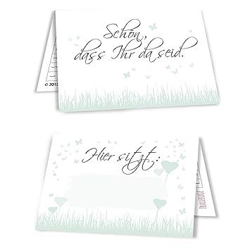 15 Tischkarten Sitzplatzkarten Namenskartchen Hochzeit Butterfly