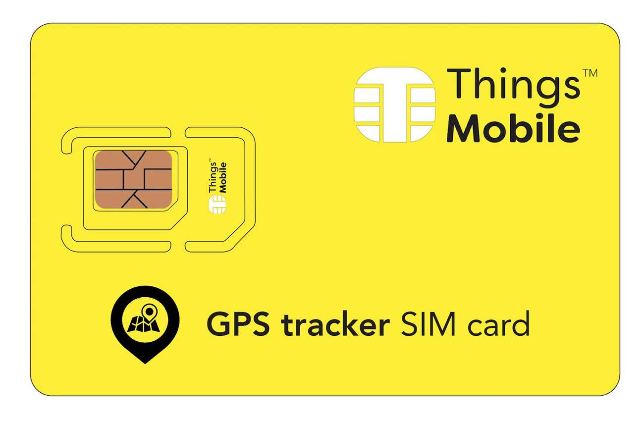 Carte SIM pour TRACKER / TRACEUR GPS - Things Mobile - avec couverture mondiale et réseau multi-opérateur GSM/2G/3G/4G, sans coûts fixes. 10€ de crédit inclus