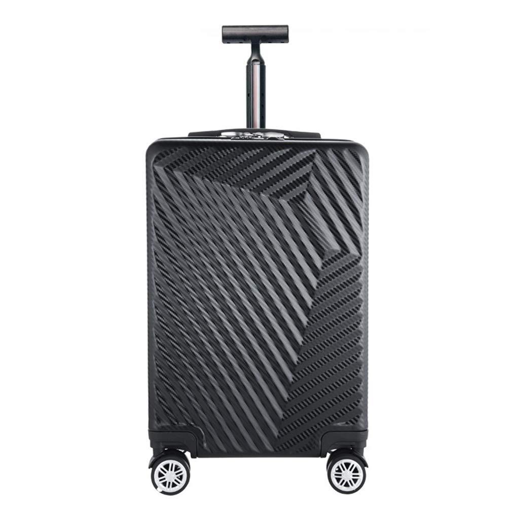 荷物スーツケース、ABSハードシェル4ラウンドビジネストラベルトロリーケース、軽量スーツケース荷物20インチ手荷物,Black B07T1621JB Black