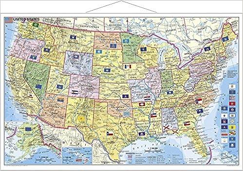 Usa Bundesstaaten Mit Postleitzahlen Wandkarte Mit