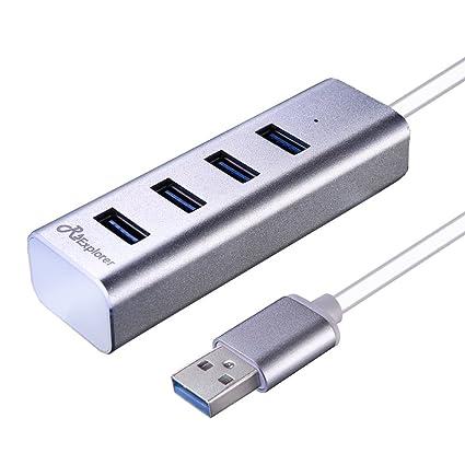 Upgraded Mobile HDD Surface Pro and More Mac Pro//Mini Notebook XPS USB 3.0 Hub USB Flash Drives PC iMac JoyReken Ultra Slim 4-Port USB 3.0 Data Hub Portable Super Speed for MacBook