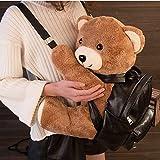 Cute bear backpack female teddy bear backpack creative 1pcs...