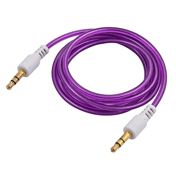 Amazon.com: DealMux 3,5 mm macho para macho de áudio auxiliar de extensão roxo Cable 1m de comprimento para PC Headphone Speaker: Electronics