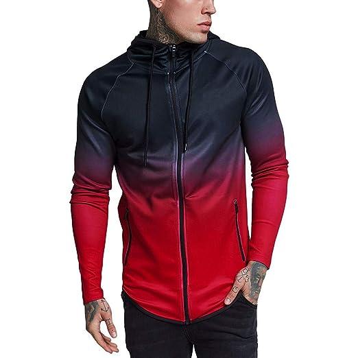 Amazon.com: Gradual Change Hoodie Sweatshirts BOOMJIU Mens Winter Casual Long Sleeve Tops with Full Zip: Clothing