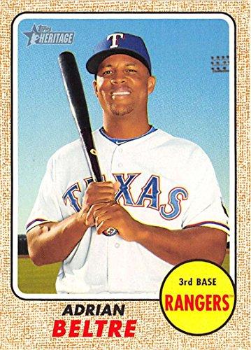 2017 Topps Heritage #287 Adrian Beltre Texas Rangers Baseball Card