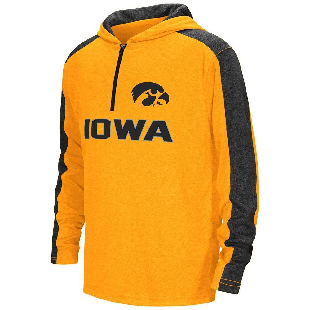 Colosseum Youth Iowa Hawkeyes Quarter Zip Hooded Windshirt