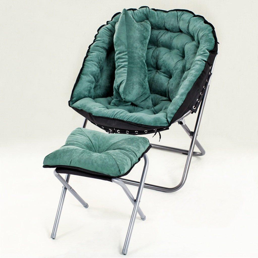 快適な椅子怠け者の男の子のリクライナー、足との残りの、柔らかく快適な深い設定の折り畳み式のクラブチェア、金属、完全なラウンジベッドルーム、100キロ (色 : 緑) B07DMYGXGY 緑 緑