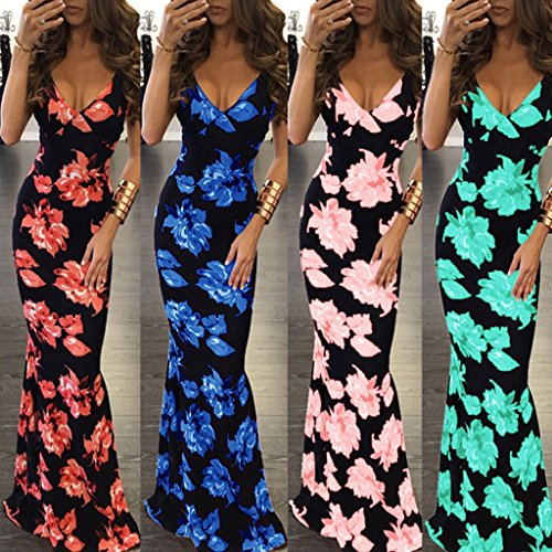 Impresión Fiesta Mujeres Color Vestidos WANG A Largo Tamaño Vestido Vestidos Noche Mangas de Verano S Playa de de de de de Las sin Vestidos d7RqXAq