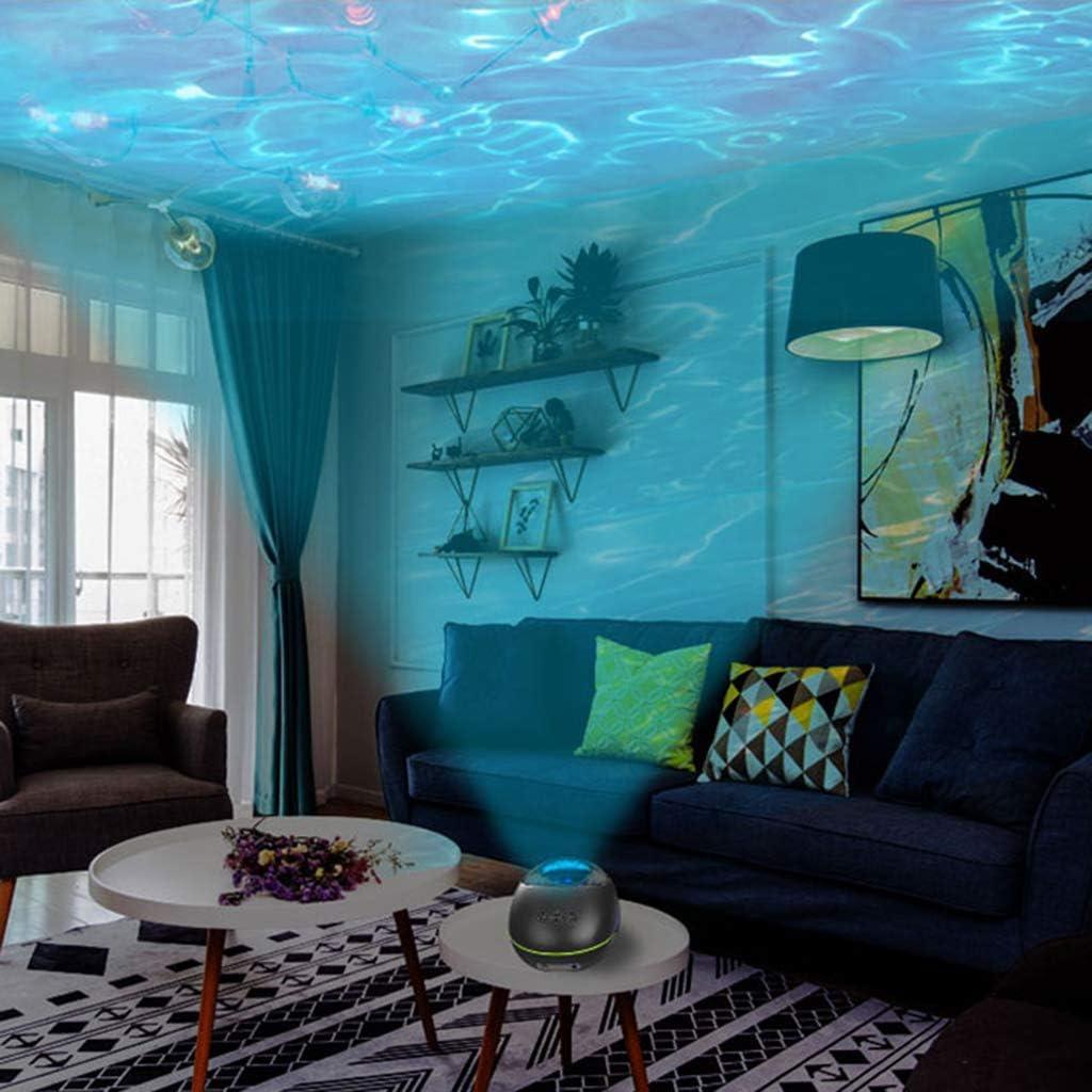 HAOT Proiettore Oceano LED Lampada Magica a proiezione personalità Altoparlante Telecomando Camera da Letto Luce Notturna di Ricarica Colorata White