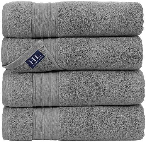 """SPRINGFIELD LINEN Premium 100/% Cotton Soft-Bath Towels 27/""""X54/""""  SET OF 6 Pieces"""