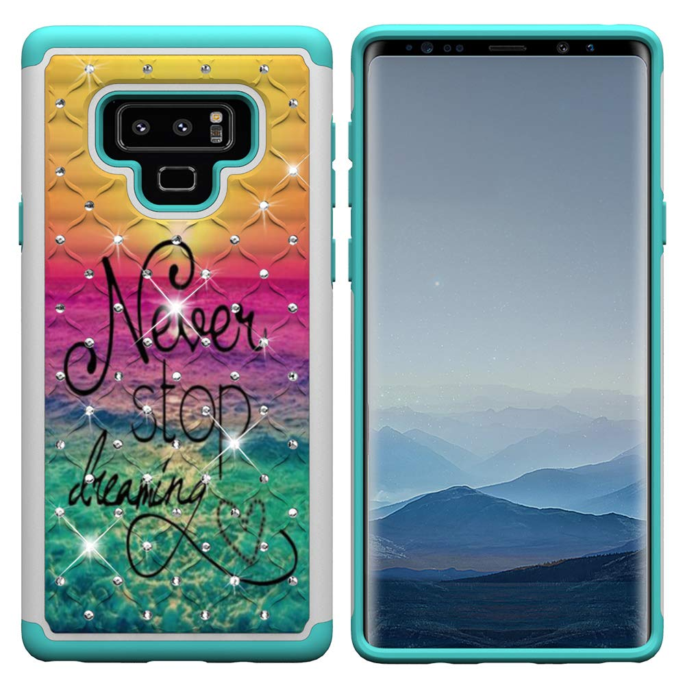 IVY Galaxy Note 9 [2 in 1] PC+TPU Phone Case [Coloured Drawing & Diamond] Hybrid Dual Layer Armor Cover for Samsung Note 9 - Dream YBCHZSMNote9-06