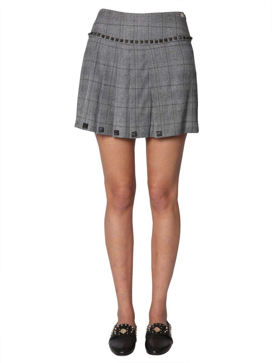 Versace Collection Women's G35640G603999G6101 Grey Wool Skirt