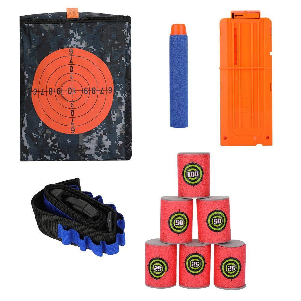 Vbestlife Target Shooting Pouch Storage Bag Soft EVA Bullets Target Dart Foam Toy Gun Shoot Dart Kit Kids Toy Set for Tactical Nerf N-Strike Gun Games (Combo 1) by Vbestlife