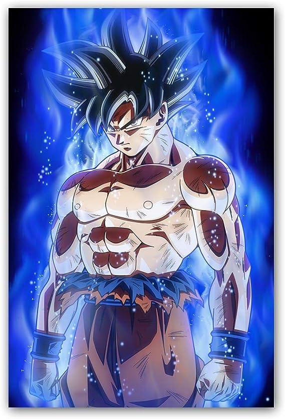 Wangart Affiches Et Imprimer Dragon Ball Super Affiche Goku Ultra Instinct Peinture Sur Toile Mur Photos Pour Le Salon Affiche De Film No Frame50x70cm Amazon Fr Cuisine Maison