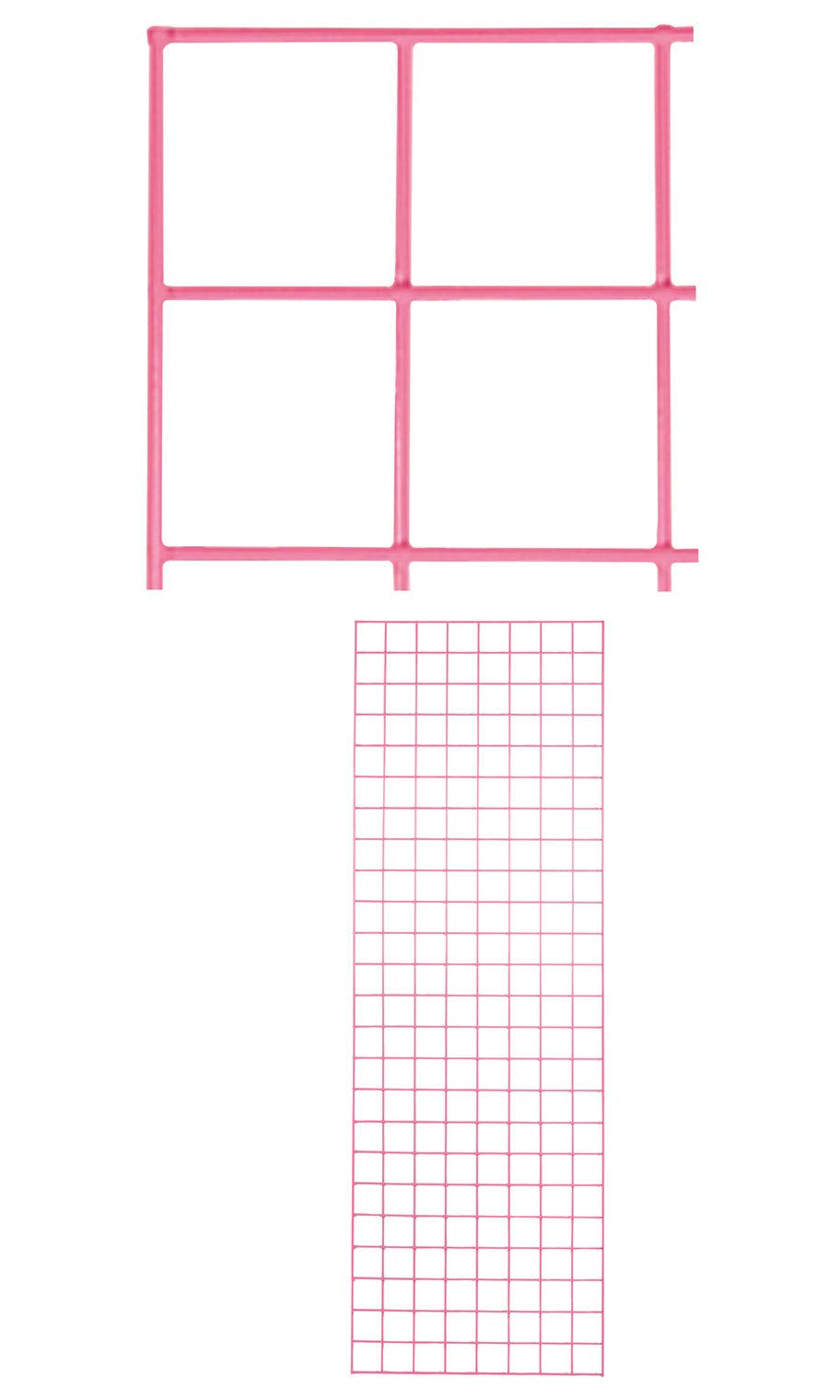 2 x 6 Foot Hot Pink Wire Grid Panel - Spaced 3'' on Center