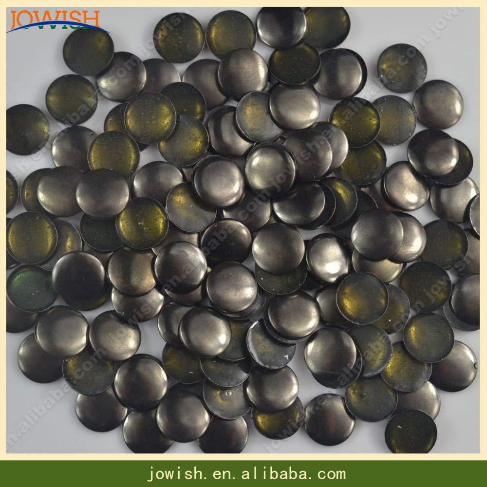 Garment Rivet - Silver Gold Gunmetal Bronze Rivets 10000pcs/pack Round Flat Back Surface hotfix Studs Iron on DIY Spike Arts,Crafts & Sewing - (Color: Gunmetal, Size: 10mm)